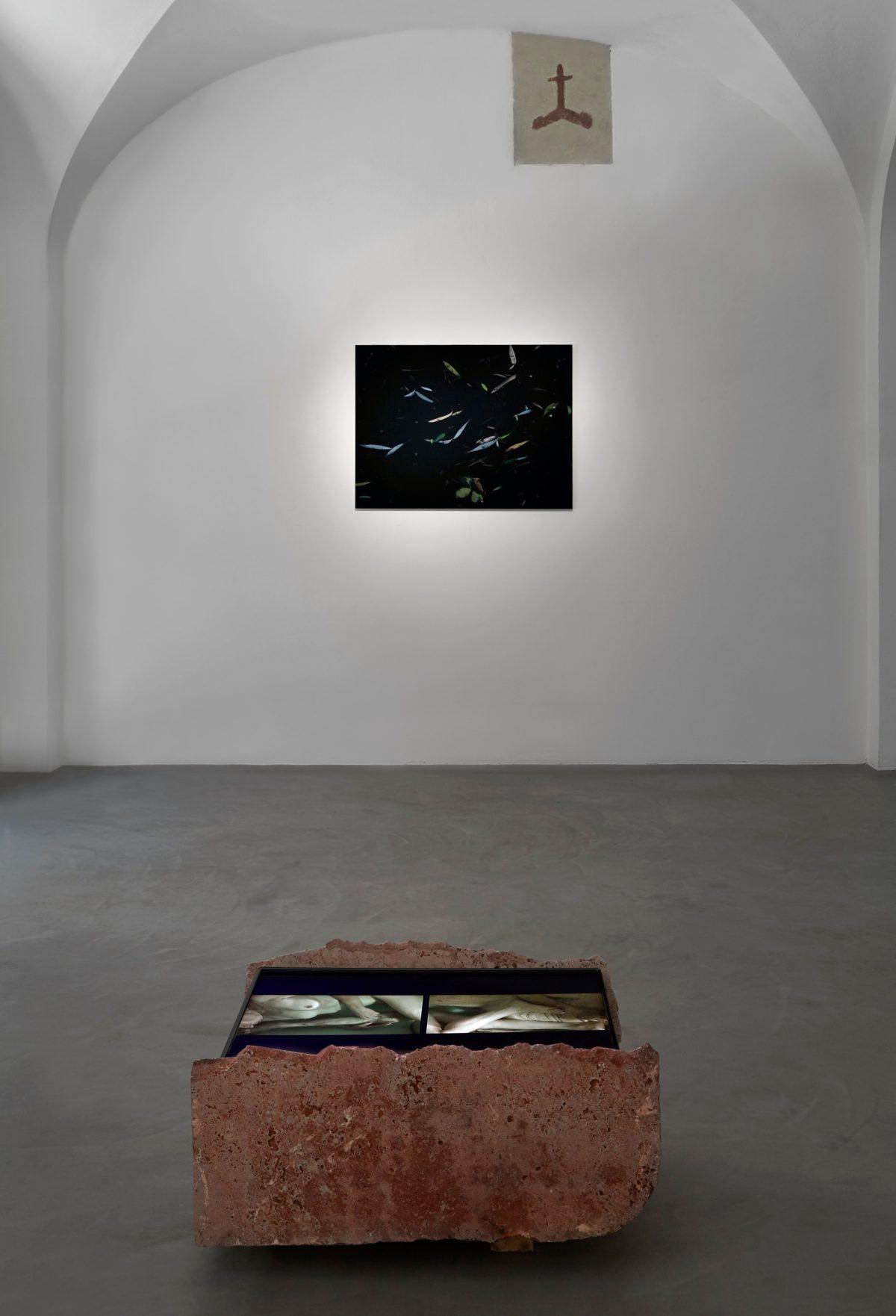 Sandra Binion, DarkWater, veduta della mostra.