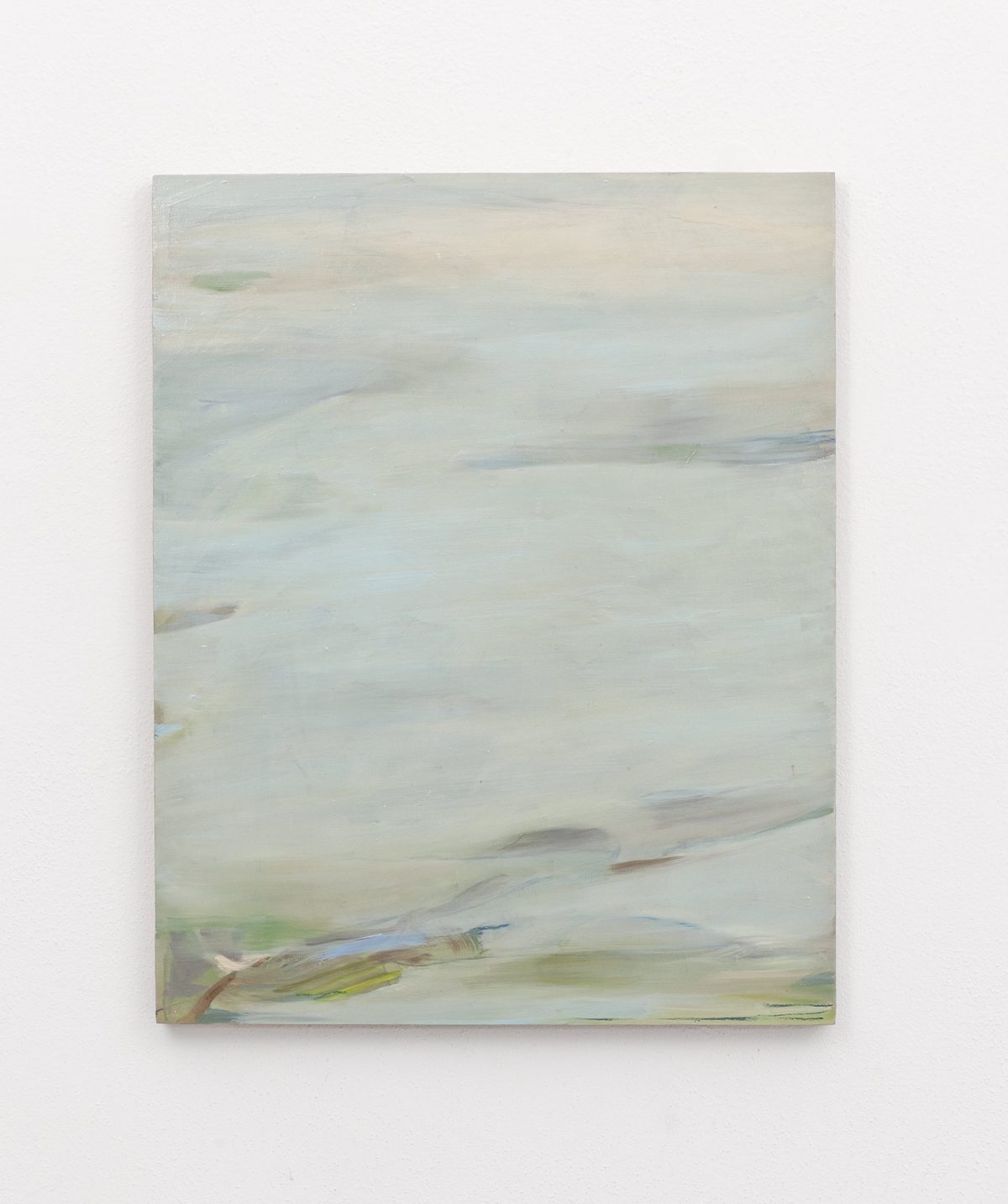 Beatrice Meoni, Searching for the miracolous (omaggio a Bas Jan Ader), 2018, olio su tavola, cm 50x40