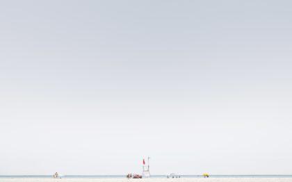 Luca Lupi, Finis sterrae, Spiaggie Bianche, Livorno, 2017, archival pigment print.  50x80