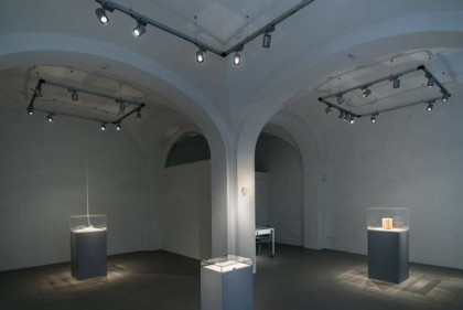 """""""Una forma di attenzione.Sabrina Mezzaqui in dialogo con Antonella Anedda"""".  Galleria Passaggi Pisa   Foto Dania Gennai"""