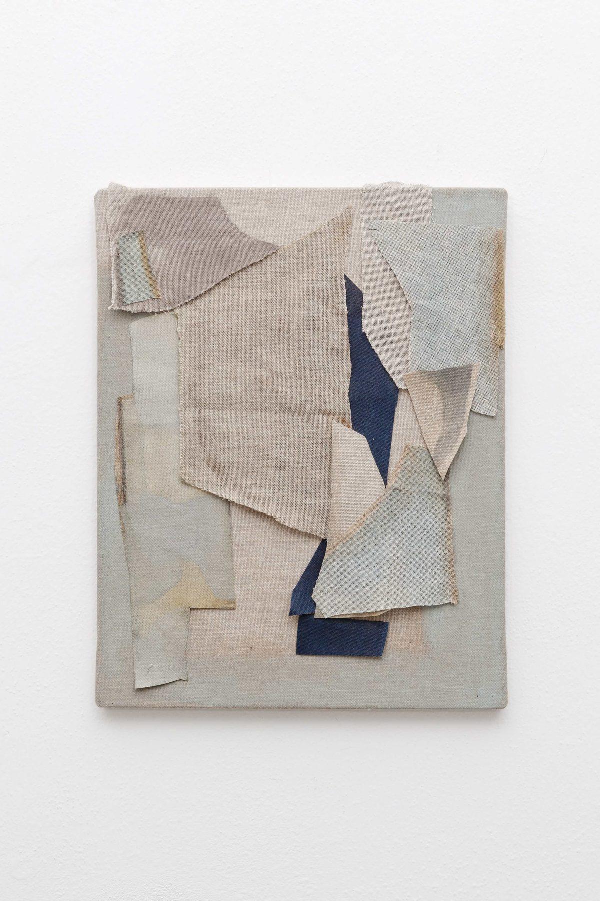 Beatrice Meoni, Apresludes, 2018, tecnica mista collage su tela, cm 40x35